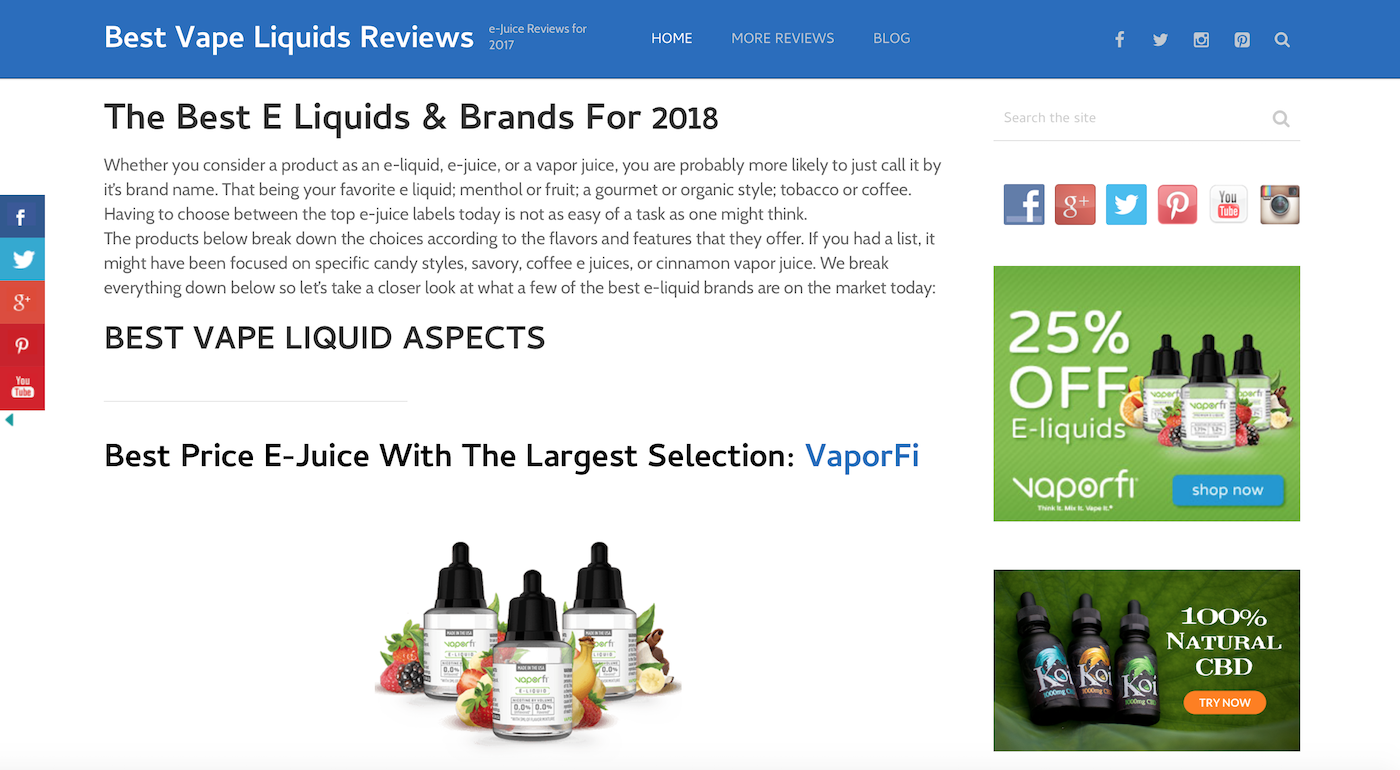 a picture of vape liquid reviews